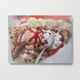 crepe deliciousness Metal Print