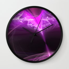 The beginning-attraction- fractal heart Wall Clock