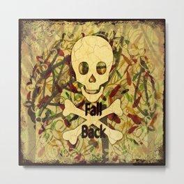 Fall Back Skull Metal Print