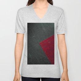 Red On Black Unisex V-Neck
