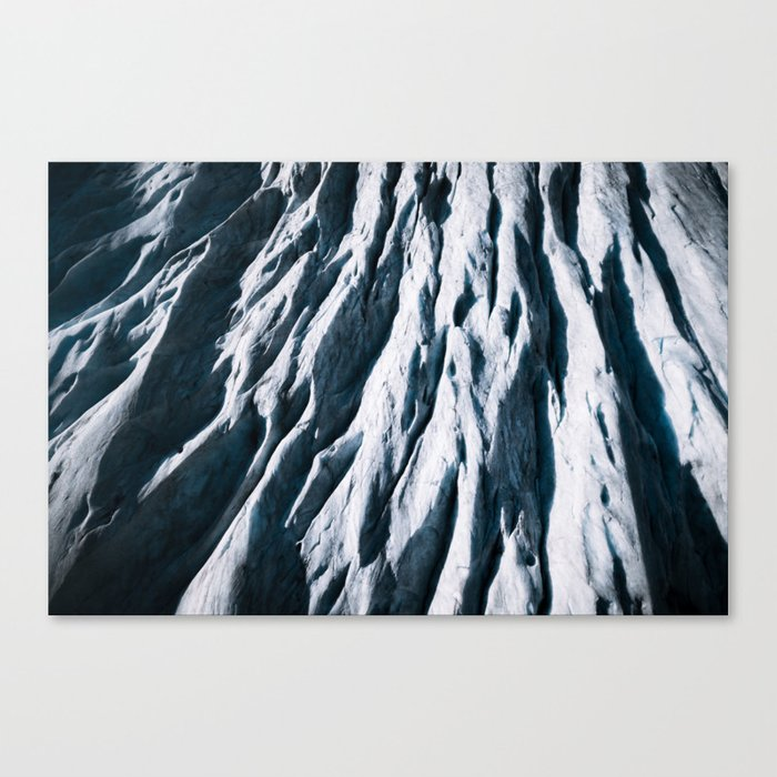 Arctic Glacial Pattern from above - Landscape Photography Canvas Print