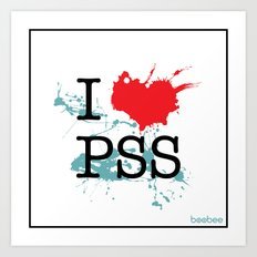 I Love Paesello Art Print