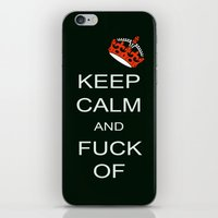 keep calm iPhone & iPod Skins featuring keep calm by laika in cosmos