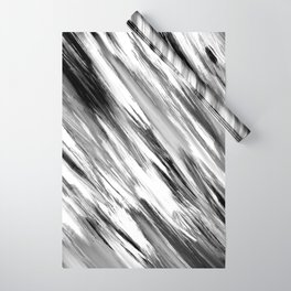 Black and White Painted Tie Dye Multi Media Cool Texture Trending Popular Modern Wrapping Paper
