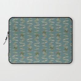 Eucalyptus Patterns with Aqua Background Realistic Botanic Patterns Organic & Striped Patterns Laptop Sleeve