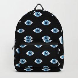 Spooky eyes (black pattern) Backpack