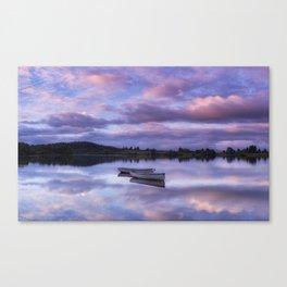 Purple Boats Canvas Print
