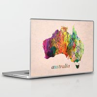 australia Laptop & iPad Skins featuring Australia  by mark ashkenazi