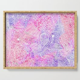 Pink Purple Paisley Love Serving Tray