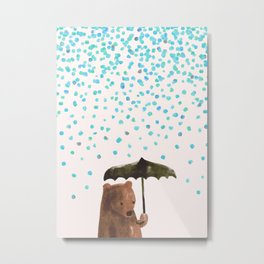 Rain rain go away Metal Print