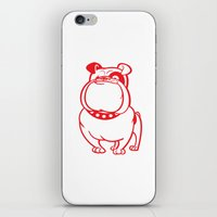 bulldog iPhone & iPod Skins featuring Bulldog by drawgood