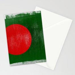 Bangladesh Distressed Halftone Denim Flag Stationery Cards
