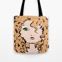 merida Tote Bags featuring Merida by Crousticro