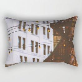 New York City Buildings and Lights (Color) Rectangular Pillow