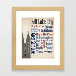 Travel - Salt Lake City Framed Art Print