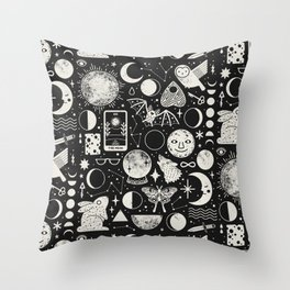 Lunar Pattern: Eclipse Throw Pillow