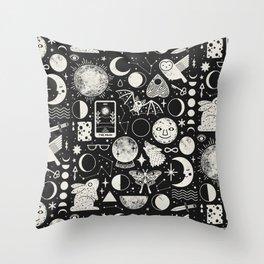 Lunar Pattern: Eclipse Throw Pillow