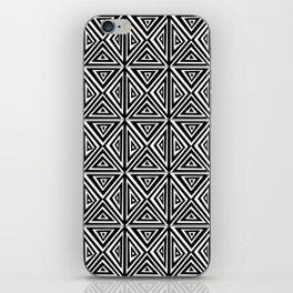 Symetric triangle 5 -vichy, gingham,strip,triangle,geometric, sober,tartan,mandala iPhone Skin