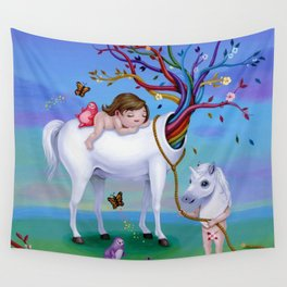The Unicorn's New Horn Wall Tapestry