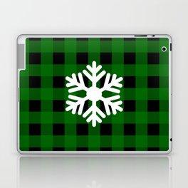 Snowflake - green buffalo check - more colors Laptop & iPad Skin