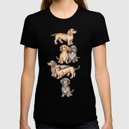 Dachshunds and dogwood blossoms T-shirt