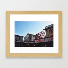 Pike Place Market Framed Art Print