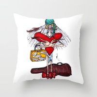 gypsy Throw Pillows featuring Gypsy by Natalie Easton
