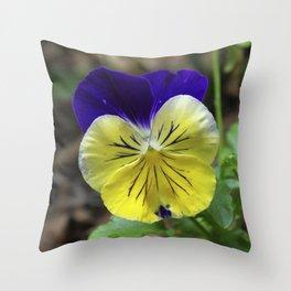 Vivid Viola Throw Pillow