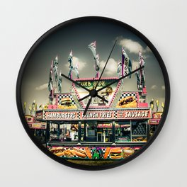 Fair Food  Wall Clock