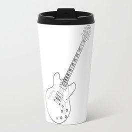 Semi Acoustic Line Drawing Travel Mug