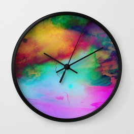 colorful night Wall Clock