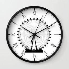 London Wheel Silhouette Wall Clock
