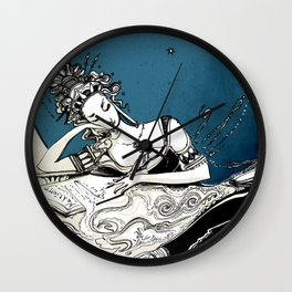 Calliope, The Muse of Epic Poetry Wall Clock
