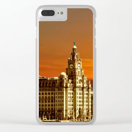 sunset over the graces Clear iPhone Case