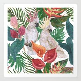 cockatoo pattern Art Print