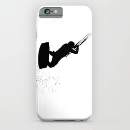 Up Up And Away Kiteboarder Silhouette iPhone Case