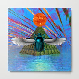 Magic Scarab  Metal Print