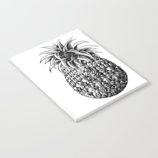 Ornate Pineapple Notebook