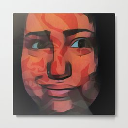 Smile camouflages the scars Metal Print