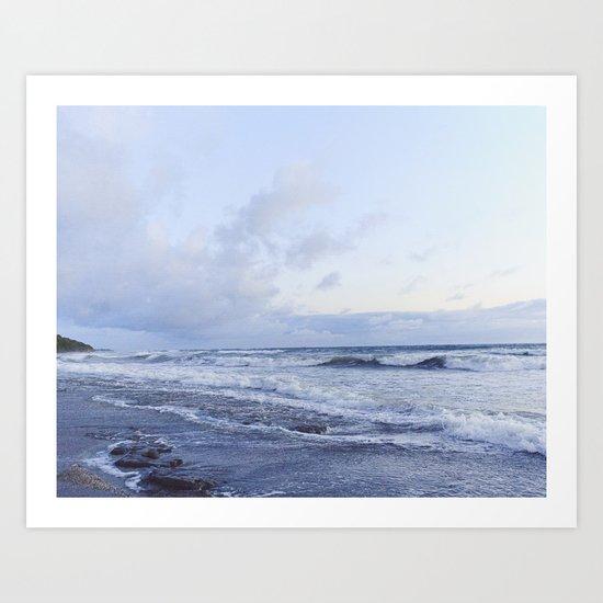 Seaside Blue at Dusk, Costa Rica Art Print