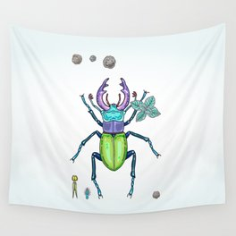 happy stag-beetle Wall Tapestry