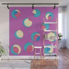 Cut the holes! Fuchsia sheet Wall Mural