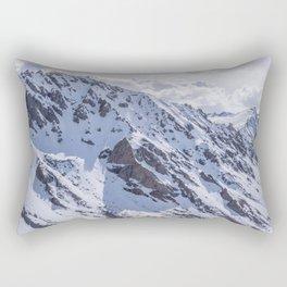 Mountains with snow Rectangular Pillow