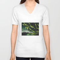 northern lights V-neck T-shirts featuring Northern Lights  by Joey Bareither