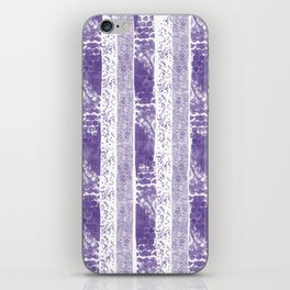 Lilac watercolor paint brushstrokes confetti stripes iPhone Skin