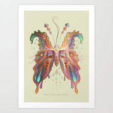 Monarch Butterfly of Spades Art Print