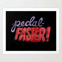 yowamushi pedal Art Prints featuring Pedal-Faster! by Chris Piascik