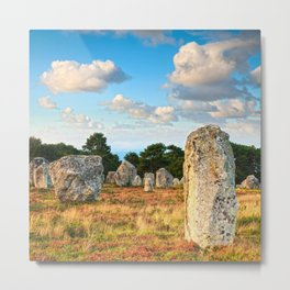 Standing Stones, Carnac, Brittany Metal Print