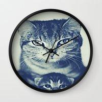 mom Wall Clocks featuring Mom by arnedayan