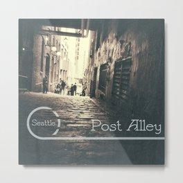 Post Alley Metal Print